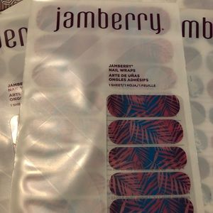 Jamberry pink and blue nail sheets